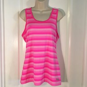 Fila Pink Striped Athletic Top